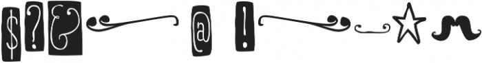 RidemyBike Ornaments otf (400) Font OTHER CHARS
