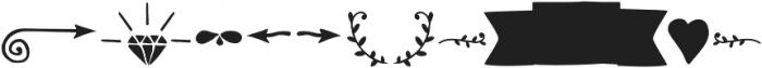 RidemyBike Ornaments otf (400) Font LOWERCASE
