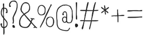RidemyBike Serif Pro Regular otf (400) Font OTHER CHARS
