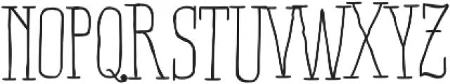 RidemyBike Serif Pro Regular otf (400) Font UPPERCASE