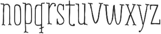 RidemyBike Serif Pro Regular otf (400) Font LOWERCASE