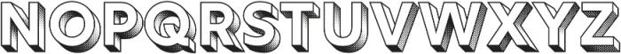 Rig Solid Bold Halftone otf (700) Font UPPERCASE