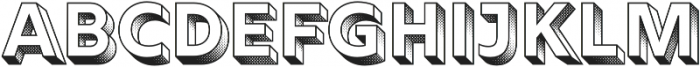 Rig Solid Bold Halftone otf (700) Font LOWERCASE