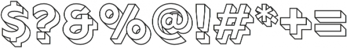Rig Solid Bold Outline otf (700) Font OTHER CHARS