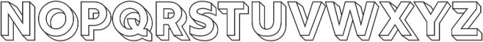 Rig Solid Bold Outline otf (700) Font UPPERCASE