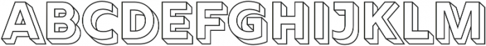 Rig Solid Bold Outline otf (700) Font LOWERCASE