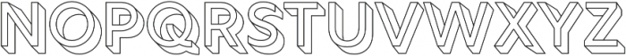 Rig Solid Medium Outline otf (500) Font UPPERCASE