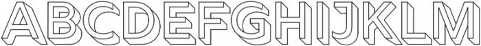 Rig Solid Medium Outline otf (500) Font LOWERCASE