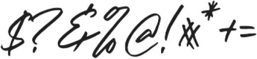 Right Gilligant Font otf (400) Font OTHER CHARS