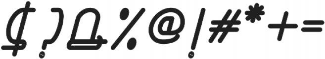 Right Hand Extra Bold Italic otf (700) Font OTHER CHARS