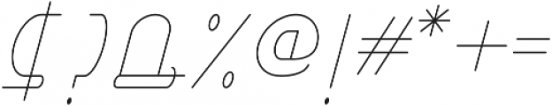 Right Hand Hairline Italic otf (100) Font OTHER CHARS