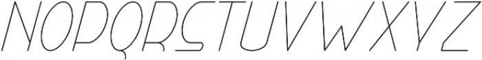 Right Hand Hairline Italic otf (100) Font UPPERCASE