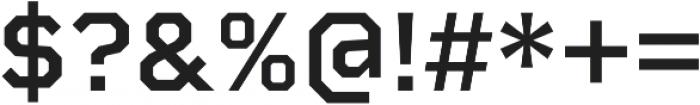Rigid Square SemiBold otf (600) Font OTHER CHARS