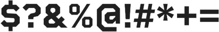 Rigid Square otf (700) Font OTHER CHARS