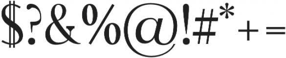 Rikiar regular otf (400) Font OTHER CHARS