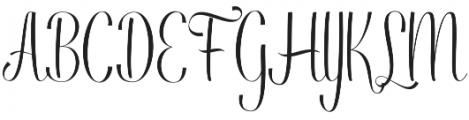 Ringdena Regular otf (400) Font UPPERCASE