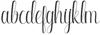 Ringdena Regular otf (400) Font LOWERCASE