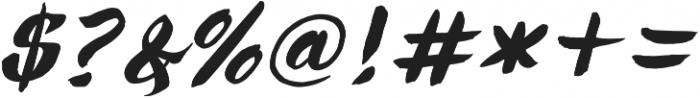 Ringotube Italic otf (400) Font OTHER CHARS