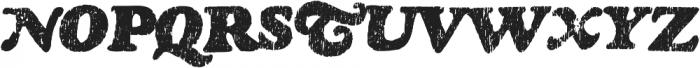 Rinse Regular otf (400) Font UPPERCASE