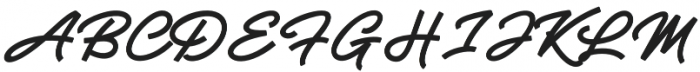 Riogrande Script otf (400) Font UPPERCASE