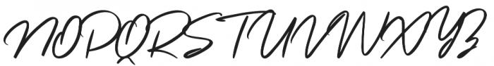 Ripon Script Regular otf (400) Font UPPERCASE