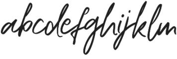 Ripon Script Regular otf (400) Font LOWERCASE