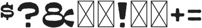 Ripshot Slab Inked otf (400) Font OTHER CHARS