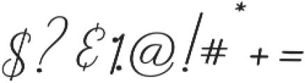Rishella Bold Bold otf (700) Font OTHER CHARS