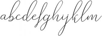 Rishella Bold Bold otf (700) Font LOWERCASE