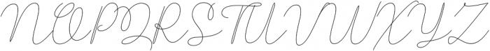 Rishella Monoline Regular otf (400) Font UPPERCASE