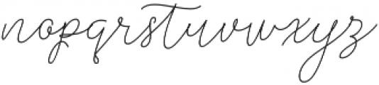 Rishella Monoline Regular otf (400) Font LOWERCASE