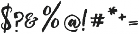 Rising Brush otf (400) Font OTHER CHARS