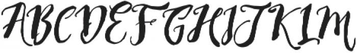 Rising Brush otf (400) Font UPPERCASE