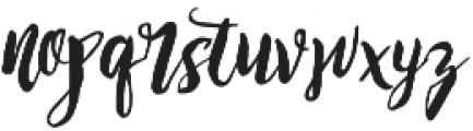Rising Brush otf (400) Font LOWERCASE