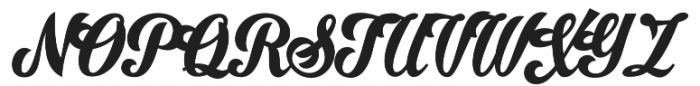 Ristella otf (400) Font UPPERCASE
