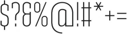 Ristretto Slab Pro ExtraLight otf (200) Font OTHER CHARS