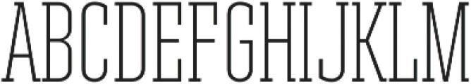 Ristretto Slab Pro ExtraLight otf (200) Font UPPERCASE