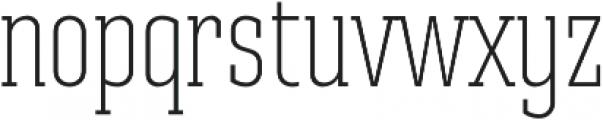 Ristretto Slab Pro ExtraLight otf (200) Font LOWERCASE