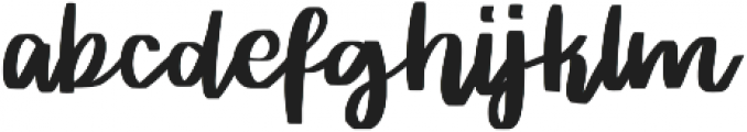 Rither otf (400) Font LOWERCASE