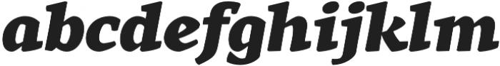 Rival Black Italic otf (900) Font LOWERCASE