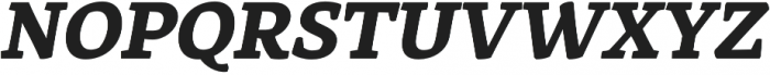Rival ExtraBold Italic otf (700) Font UPPERCASE