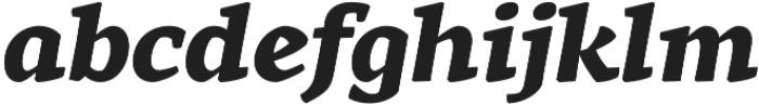 Rival ExtraBold Italic otf (700) Font LOWERCASE