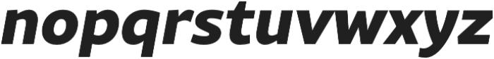 Rival Sans ExtraBold italic otf (700) Font LOWERCASE