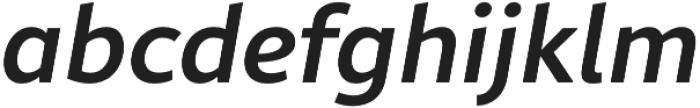 Rival Sans Medium italic otf (500) Font LOWERCASE