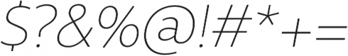 Rival Sans Thin italic otf (100) Font OTHER CHARS