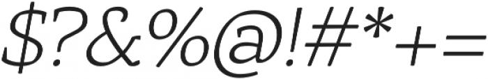 Rival UltraLight Italic otf (300) Font OTHER CHARS