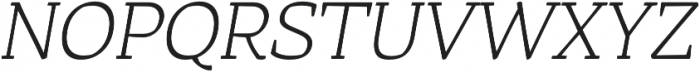Rival UltraLight Italic otf (300) Font UPPERCASE