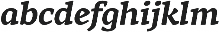 Rival otf (700) Font LOWERCASE