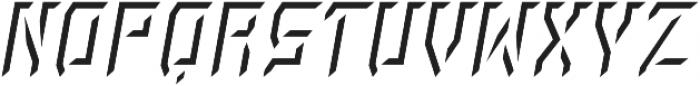 Rivalry 0117 BEVEL Highlight Italic ttf (300) Font LOWERCASE