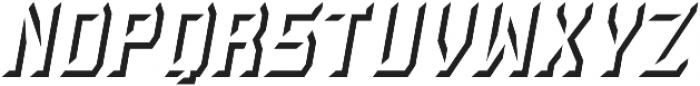 Rivalry 0117 BEVEL Shadow Italic ttf (400) Font LOWERCASE